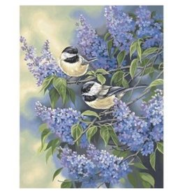Paint Works Chickadees & Lilacs