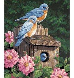 Paint Works Garden Bluebirds
