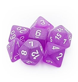 Polyhedral Dice Set (Frosted Purple/White)