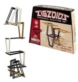 ZigZoids - Trapezoidal Sculpture Set (Monochromatic)