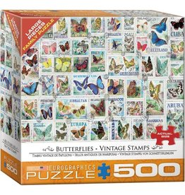 Eurographics Butterflies - Vintage Stamps (500pc)