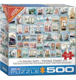 Eurographics Sailing Ships - Vintage Stamps (500pc)