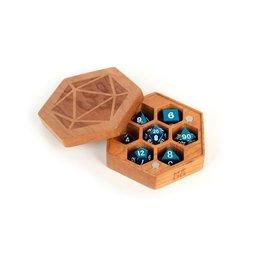 Wood Hexagon Dice Case (Cherry Wood)
