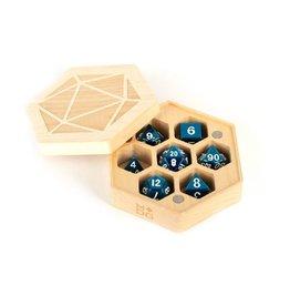 Wood Hexagon Dice Case (Maple Wood)