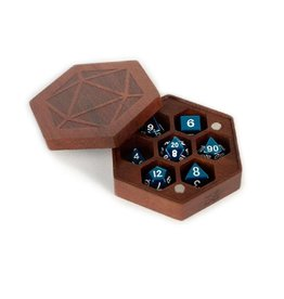 Wood Hexagon Dice Case (Purple Heart)