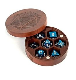 Wood Round Dice Chest (Purple Heart)