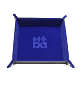 Velvet Folding Dice Tray (Navy Blue)