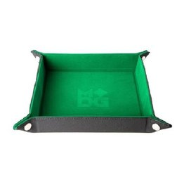 Velvet Folding Dice Tray (Green)