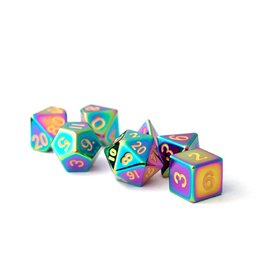 Metal Dice Set (Torched Rainbow)