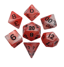 Polyhedral Dice Set (Combo Red-White/Black)