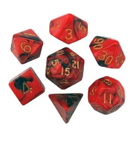 Polyhedral Dice Set (Red/Black w/Gold)
