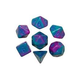Polyhedral Dice Set (Purple/Teal w/Blue)