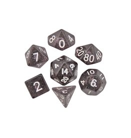 Polyhedral Dice Set (Ethereal Black/White)