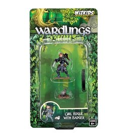 WizKids Wardlings (Girl Rogue & Badger)