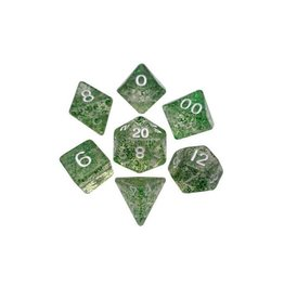 Polyhedral Dice Set (Ethereal Green/White)