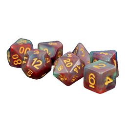 Polyhedral Dice Set (Red Pearl Swirl)