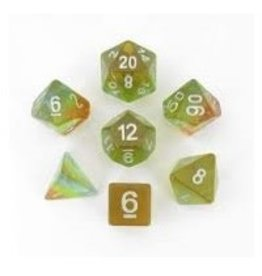 Polyhedral Dice Set (Aurora: Yellow)