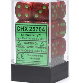 16mm D6 Dice Block (Speckled Strawberry)