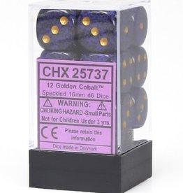 16mm D6 Dice Block (Speckled Golden Cobalt)