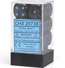 16mm D6 Dice Block (Speckled Blue Stars)