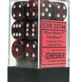 16mm D6 Dice Block (Speckled Silver Volcano)