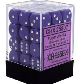 12mm D6 Dice Block (Opaque Purple w/White)