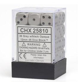 12mm D6 Dice Block (Opaque Dark Grey w/Black)