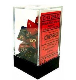 Polyhedral Dice Set (Gemini Black-Red/Gold)