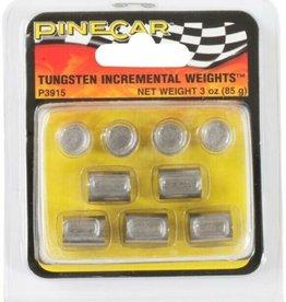 Tungsten Incremental Cylinder Weights (3oz)