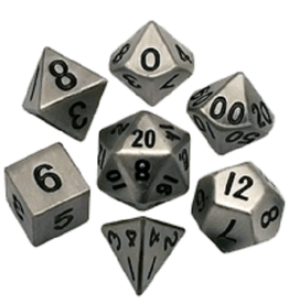 Polyhedral Metal Dice Set (Silver)
