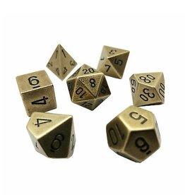 Polyhedral Metal Dice Set (Old Brass)