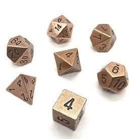 Polyhedral Metal Dice Set (Copper)