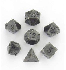 Polyhedral Metal Dice Set (Dark Metal)