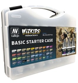 Vallejo Wizkids Basic Starter Case (40 Paints)