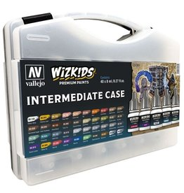 Vallejo Wizkids Intermediate Starter Case - 40 Paints (8ml/.27 fl oz.)