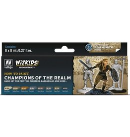 Vallejo Paint Set - Champions of the Realm (Fighters, Barbarians & More)