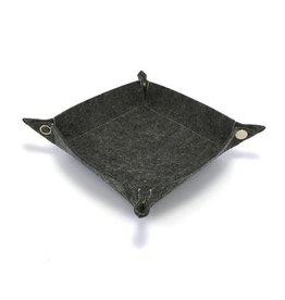 Felt Collapsible Dice Tray (Dark Grey)