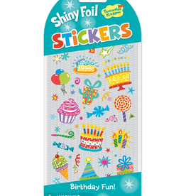 Peaceable Kingdom Shiny Foil Birthday Stickers