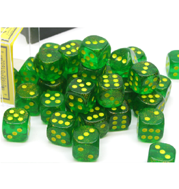 12mm D6 Dice Block (Borealis Maple Green/Yellow)