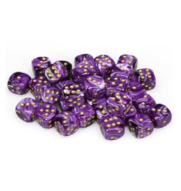 12mm D6 Dice Block (Vortex Purple/Gold)
