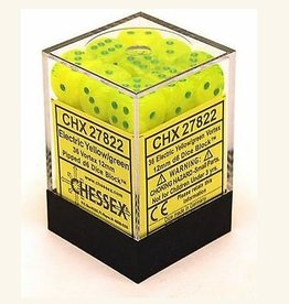 12mm D6 Dice Block (Vortex Electric Yellow w/Green)