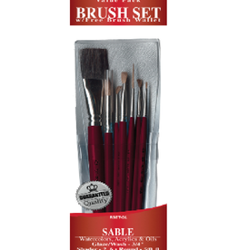 7pc Sable Value Brush Pack
