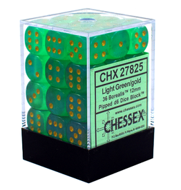 12mm D6 Dice Block (Borealis Light Green w/Gold)