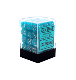 12mm D6 Dice Block (Cirrus Aqua/Silver)