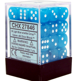 12mm D6 Dice Block (Cirrus Light Blue w/White)