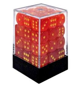 12mm D6 Dice Block (Ghostly Orange/Yellow)