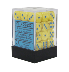 12mm D6 Dice Block (Vortex Yellow/Blue)