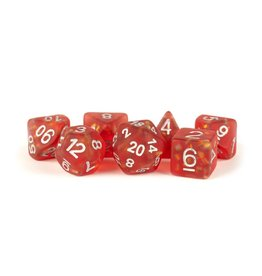 Polyhedral Dice Set (Icy Opal, Red w/Silver)