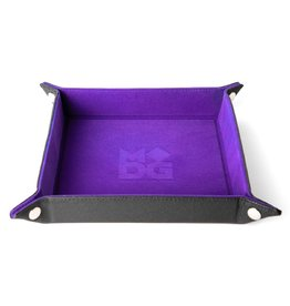 Velvet Folding Dice Tray (Purple)