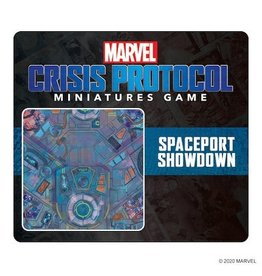 Atomic Mass Games Marvel Crisis Protocol  Game Mat (Spaceport Showdown)